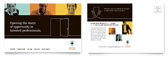 Recruiting Company Postcard Design