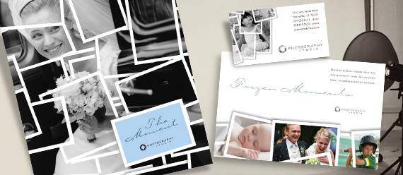 Photographer Brochure, Postcard, Flyer, and Stationery Designs