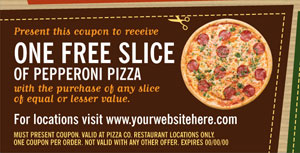 Pizza Parlor Coupon Design