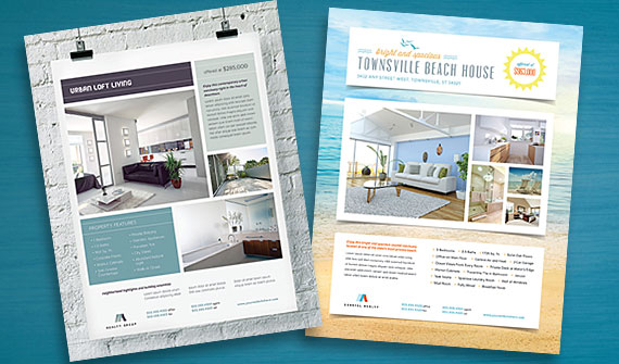 Business Marketing Templates U2013 Real Estate  Home For Sale Brochure