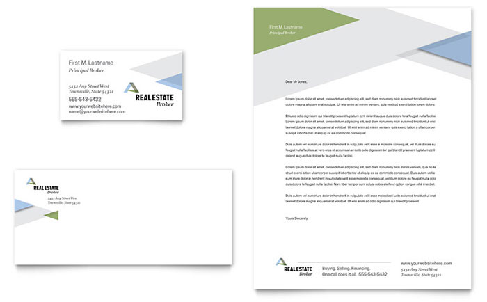 Realtor Business Card and Letterhead