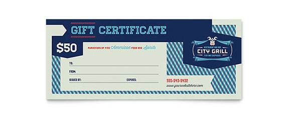 Restaurant Gift Certificate Design Idea