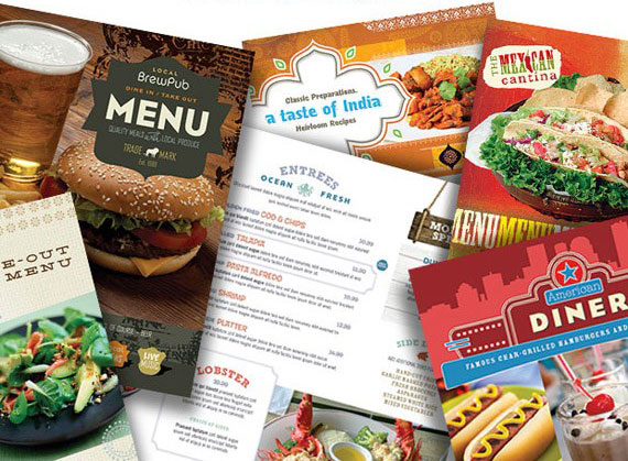make a food menu