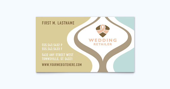 Wedding Business Card Design Idea