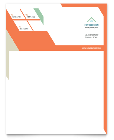 Window Cleaning & Pressure Washing Letterhead Design