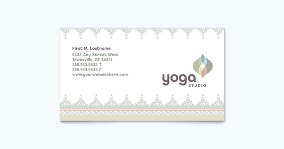 Yoga Business Card Design Idea