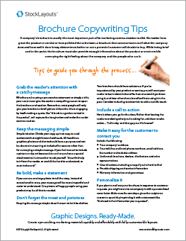 StockLayouts Brochure Writing Tips