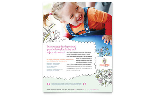 child care brochure examples