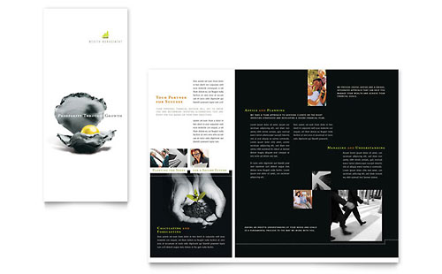 Wealth Management Services Newsletter Template Design
