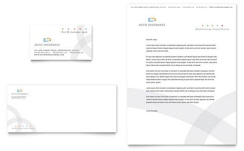 Car Insurance Company Brochure Template Design