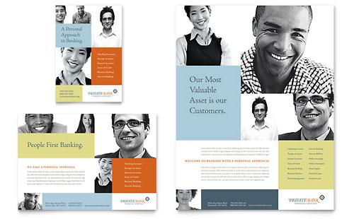 Private Bank Brochure Template Design