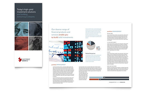 Investment & Wealth Management Brochures Templates