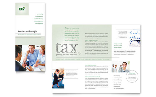 Accounting & Tax Services Tri Fold Brochure Template Design