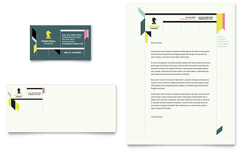 Personal Finance Brochure Template Design