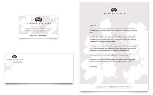 Interior Designer Business Card & Letterhead Template Design