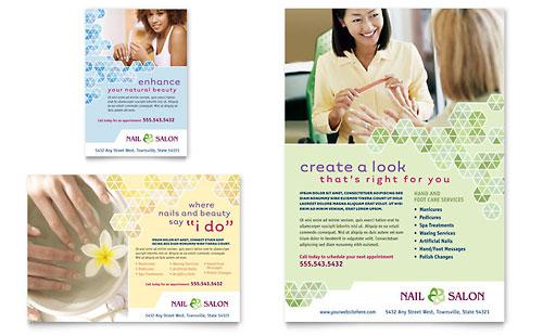 Nail Salon Flyer & Ad Template Design