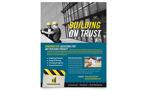 Construction Flyers Templates & Design Examples