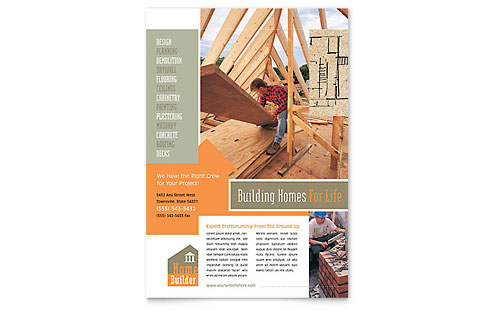 Construction Marketing Brochures Flyers Graphic Designs