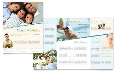 Medical & Health Care Newsletter Templates & Design Examples