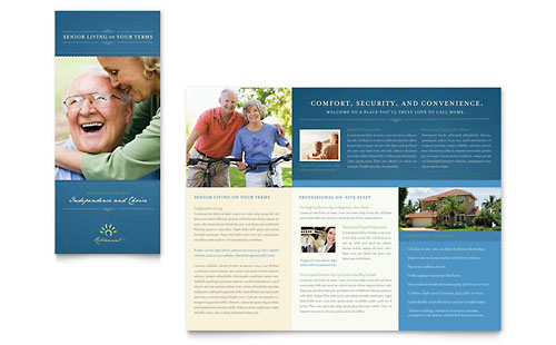 Elder Care Brochures Templates & Graphic Designs