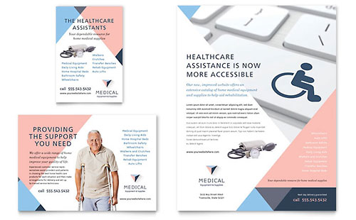 Disability Medical Equipment Brochure Template Design
