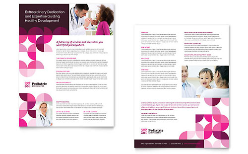 Pediatric Doctor Brochure Template Design
