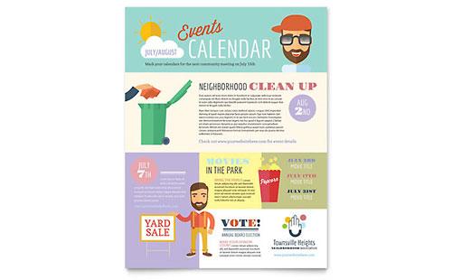 Homeowners Association Newsletter Template Design