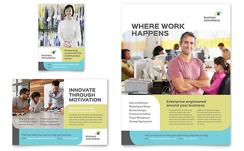 Small Business Consultant Brochure Template Design