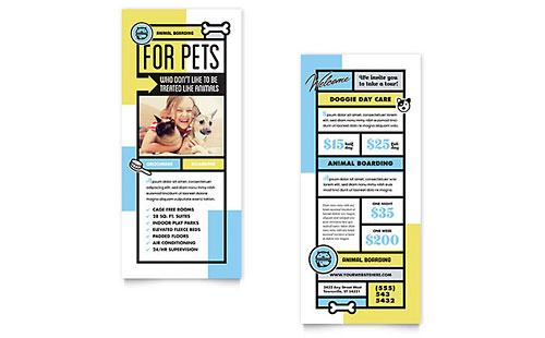 Animals & Pet Care Marketing Brochures Flyers Postcards