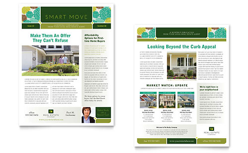 Real Estate Newsletter Template Design