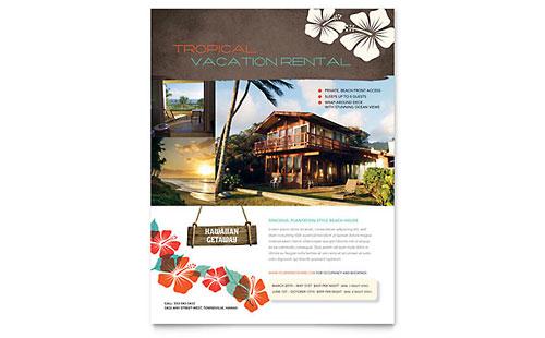 Vacation Rental Postcard Template Design