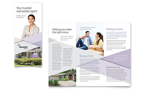 Real Estate Agent Brochure Templates Ideal Vistalist Co