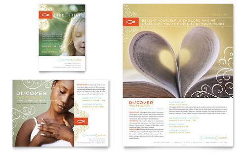 Christian Church Religious Poster Template Design