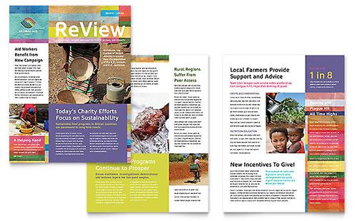 Humanitarian Aid Organization Newsletter Template Design