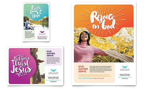 Church Brochure Template Design