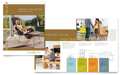 Interior Designer Newsletter Template Design