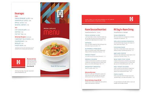 Restaurant Menu Templates InDesign Illustrator