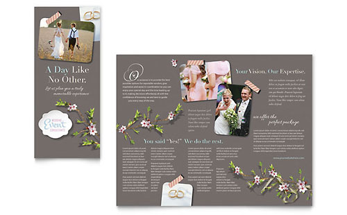 Wedding & Event Marketing Brochures Flyers Postcards