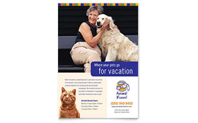 Dog Kennel & Pet Day Care Flyer & Ad Template Design