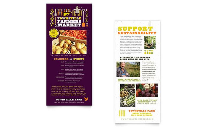 Farmers Market Rack Card Template Design