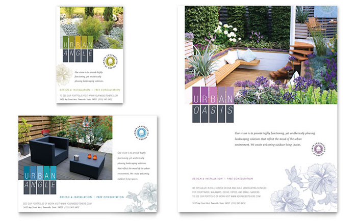 Urban Landscaping Flyer & Ad Example