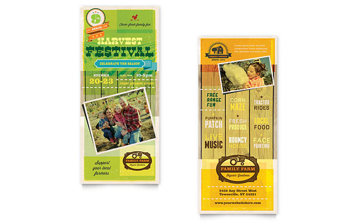 Rack Card Sample - Farm Harvest Festival
