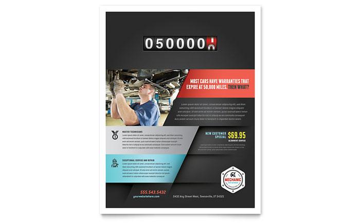 auto repair maintenance flyer