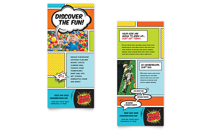 Kids Club - Rack Card Example