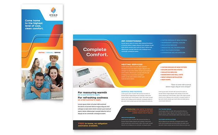 HVAC Brochure Template Design