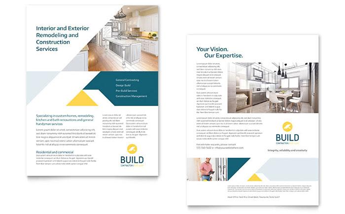 Contractor Datasheet Template Design