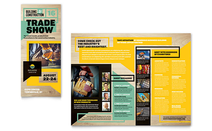Builder's Trade Show Brochure Template Design