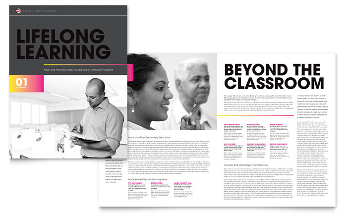 Education & Training Brochures Templates & Design Examples