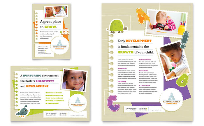 kindergarten advertisement design - Daycare Advertising Examples
