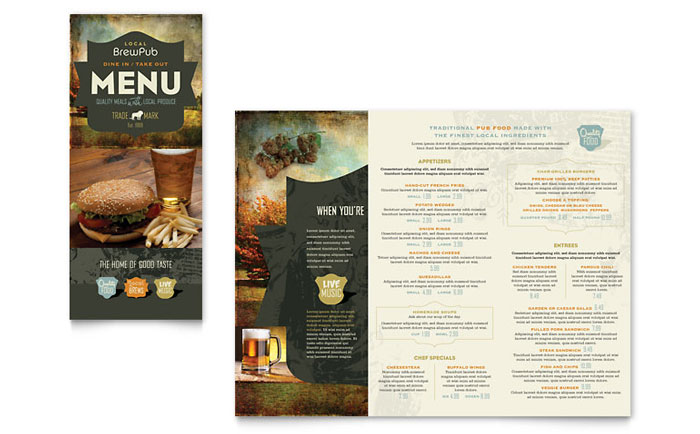 Food & Beverage Menus Templates & Design Examples